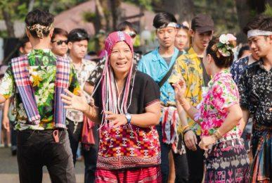 songkran festival, songkran festival in mae hong son, songkran festival mae hong son
