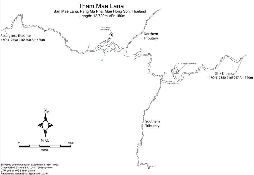 mae lana cave map, mae lana cave, tham mae lana, mae lana cave in mae hong son, tham mae lana in mae hong son